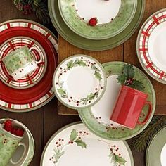 These are my Christmas dishes. Love them! Lenox Holiday Gatherings