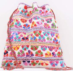 Cute Hippy handembroidered pouch ❀