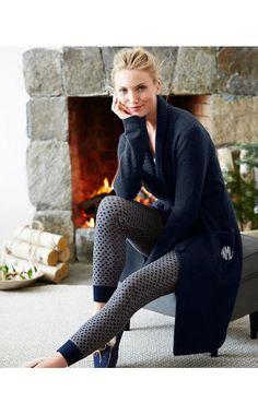 Rib-Detail Sweater-Knit Robe