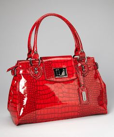 Take a look at this Red Reptile Patent Tote on zulily today!