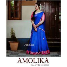 Indian Gowns Dresses, Formal Dresses, Half Saree Designs, Wedding Photos, Feminine, Sari, Messages, Cute, How To Wear