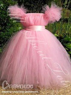 Как сшить платье из фатина