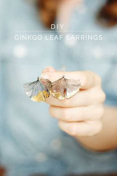 Ginkgo Leaf Earrings from Wellnesting