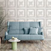 WallPops Peel and Stick ft White Vinyl Tile Self-Adhesive Peel and Stick Wallpaper at Lowe's. This reclaimed tin tile peel and stick wallpaper is the perfect way to give your space a vintage flair. The print was created from an actual vintage tile,
