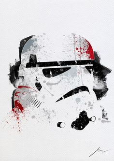 A series of Abstract portraits of Star Wars Characters by the French artist Arian Noveir