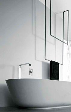 Design handoekenrek in badkamer #decoratie