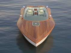 Pietro Russomanno has submitted his latest design, Raceline. It's an elegant boat that features wooden surface. Raceline is a concept powerboat Riva Boat, Yacht Boat, Sport Yacht, Cool Boats, Small Boats, Console Centrale, Wooden Speed Boats, Classic Wooden Boats, Classic Boat