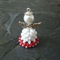 Engle, Angel Pendant, Beading, Construction, Pendants, Jewels, Christmas Ornaments, Holiday Decor, Hipster Stuff