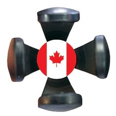 Golf ball pick up tool decorated with the Canadian Flag. Fits into the back of any putter grip and is the best ball pickup tool on the market!
