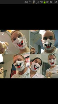 Wish they wore these at my dentist office ;