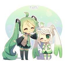 Miku and leek