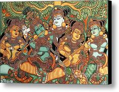Kerala Mural Painting Canvas Print / Canvas Art By Pg Reproductions