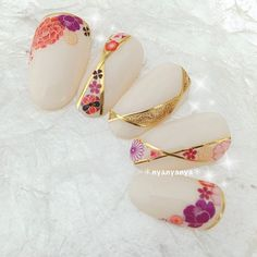 Cat Nails, New Year's Nails, Hair And Nails, Asian Nail Art, Asian Nails, Stiletto Nail Art, Gel Nail Art, Japan Nail, Cherry Blossom Nails
