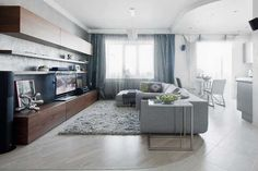 Small Apartment Living Room Decorating Ideas | Modern living room design and decorating ideas, small apartment in ...