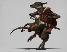 """we-are-rogue:"""" Kobold Rogue by Sean Richardson""""Wearing the stolen gear from a human adventurer, Wort was starting to settle into his exile. Grabbing the silver tarragon leaves around his neck, he pictured the crest's previous owner, and imagined. Fantasy Character Design, Character Concept, Character Inspiration, Character Art, Fantasy Races, High Fantasy, Fantasy Rpg, Dungeons And Dragons Characters, Dnd Characters"""