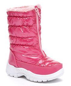 Love this Fuchsia Puffy Snow Boot on #zulily! #zulilyfinds