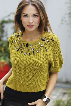 svetrík s aplikáciou Crochet Top, Jewelry, Tops, Women, Fashion, Jewlery, Moda, Jewels, Women's