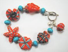 coral starfish bracelet