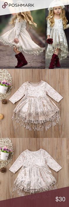 Boho hippie velvet fringe dress✌✨ Adorable NEW boho hippie crushed velvet fringe dress.✌️Absolutely adorable!!!✨ Check out my other listing for more bohemian items for women and children. Bundle pay for shipping only once, plus get an additional discount!✨ The more you bundle the more you save!!!  Dresses