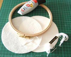 Carina's Craftblog: Embroidery hoop framing tutorial