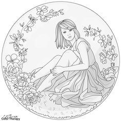 Coloring Book Art, Coloring Apps, Coloring Pages For Girls, Colouring Pages, Art Drawings Sketches, Easy Drawings, Embroidery Hoop Art, Embroidery Patterns, Detailed Coloring Pages