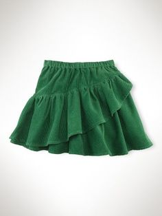 Pull-On Ruffle Corduroy Skirt - Girls Scooters & Skirts - Pull-On Ruffle Corduroy Skirt - Gir Baby Girl Skirts, Baby Skirt, Little Girl Dresses, Baby Dress, Baby Girl Fashion, Kids Fashion, Cute Outfits For Kids, Baby Outfits, Baby Girl Dress Patterns