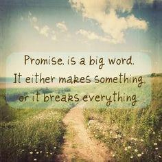 A promise....