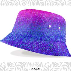 SOLD Bucket Hat GLITTER STAR DUST G28! https://paom.com/products/0000000p-raincoat-glitter-dust-background-g8/  #Paom #Printalloverme #bucket #hat #Glitter #Dust #stars #purple #pink #clothing #fashion #style #sparkley #Graphic #medusagraphicart #medusa81 #artist #medusart #artwork