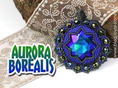 Aurora Borealis – beadingowy wisior z magicznym blaskiem- tutorial.