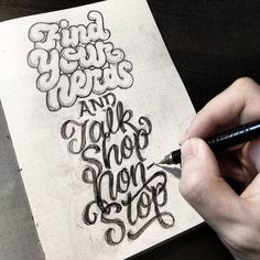 Awesome type sketch by @dandrawnwords | #typegang if you would like to be featured | typegang.com | typegang.com #typegang #typography