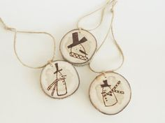 wood slice rustic ornaments - Google Search