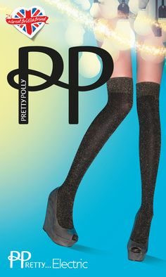 The Sparkle Rib Knee High in Black/Gold