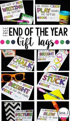 Free end of the year gift tags for your students