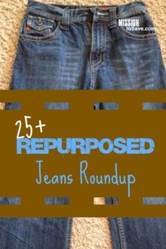 Check out these clever repurposed jeans projects. This is upcycling and DIY at it's best!