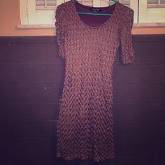 Forever21 Dress Size s- brown w gold glitter Forever 21 Dresses Mini
