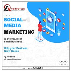 SOCIAL MEDIA MARKETING IS THE FUTURE OF SMALL BUSINESS HELP YOUR BUSINESS GROW ONLINE Are you reaching out to your target market online? We'll help you get there and grow. Our marketing strategy is more about results to help you grow into a market leader. GET YOUR FREE QUOTE TODAY‼️ Online Marketing, Social Media Marketing, Small Business Help, Online S, Free Quotes, Target, How To Plan, Future, Future Tense