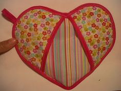 Agarraderas para cosina en forma de corazòn