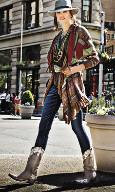 Out West goes uptown when Cowgirl travels to Manhattan to celebrate the sexiest style in the city: the urban cowgirl.