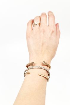 The Besties Cuff is such a great stacking piece