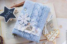 """Блокноты ручной работы. Ярмарка Мастеров - ручная работа. Купить Блокнот """"Снежное небо"""". Handmade. Голубой, блокнот в мягкой обложке"""