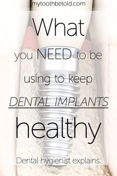 I am heartbroken when a patient of mine comes in and their implant is failing, or they have a cavity underneath their bridge and they need a new one made. Prevention is the cheapest form of treatment that you can do. Prevent gum disease around your implants/bridges by following my recommendations! I have compiled a list of resources for you that will help you keep your expensive dental treatments healthy, prevent decay and failure. #oralhealth #dentalimplants #dentalhygiene #implant Dental Hygienist, Dental Implants, List Of Resources, Dental Bridge, Oral Health, Cavities, Bridges, Decay, Tooth