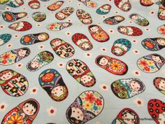 Flannel Fabric  Dolls  1 yard  100% Cotton Flannel by SnappyBaby