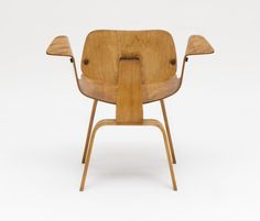 A rare Eames chair model in the LACMA collection, seen from behind