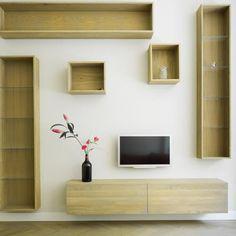Prachtig samengesteld wandmeubel in eiken In elke vorm mogelijk!  Project Bloemendaal | MAEK meubels & keukens