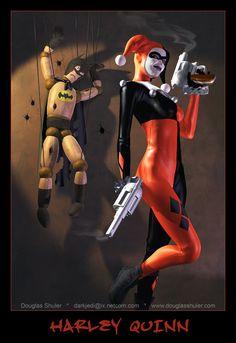 #Harley #Quinn #Fan #Art. (HARLEY QUINN) By: DouglasShuler. (THE * 5 * STÅR * ÅWARD * OF: * AW YEAH, IT'S MAJOR ÅWESOMENESS!!!™) ÅÅÅ+