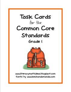 Literacy & Math Ideas: Common Core for 1st Grade