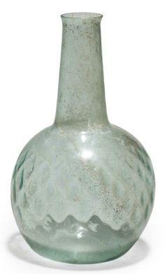 Roman Glass Bottle - 1st century CE Rome  More @ FOSTERGINGER At Pinterest