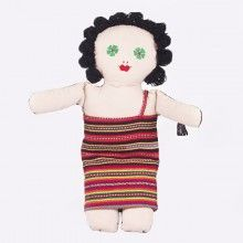 Harmony Dolls® are unique, double sided dolls that represent cultural diversity and harmony. This girl doll comes in a multi-coloured dress, made from traditional East Timor textiles!