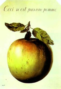 Rene Magritte. This is not an apple. 1964