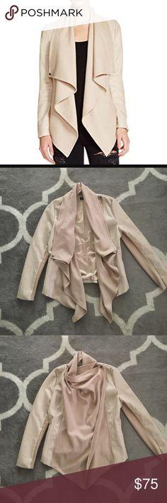 Bardot Womens Mixed Media Ribbed Knit Jacket b Bardot Womens Mixed Media Ribbed Knit Jacket.  Worn once Bardot Jackets & Coats